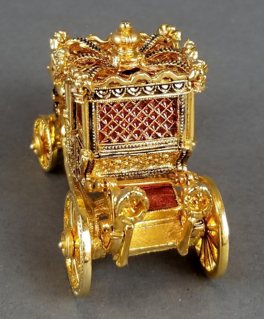 Faberge Authentic Enamel Carriage Egg - 9