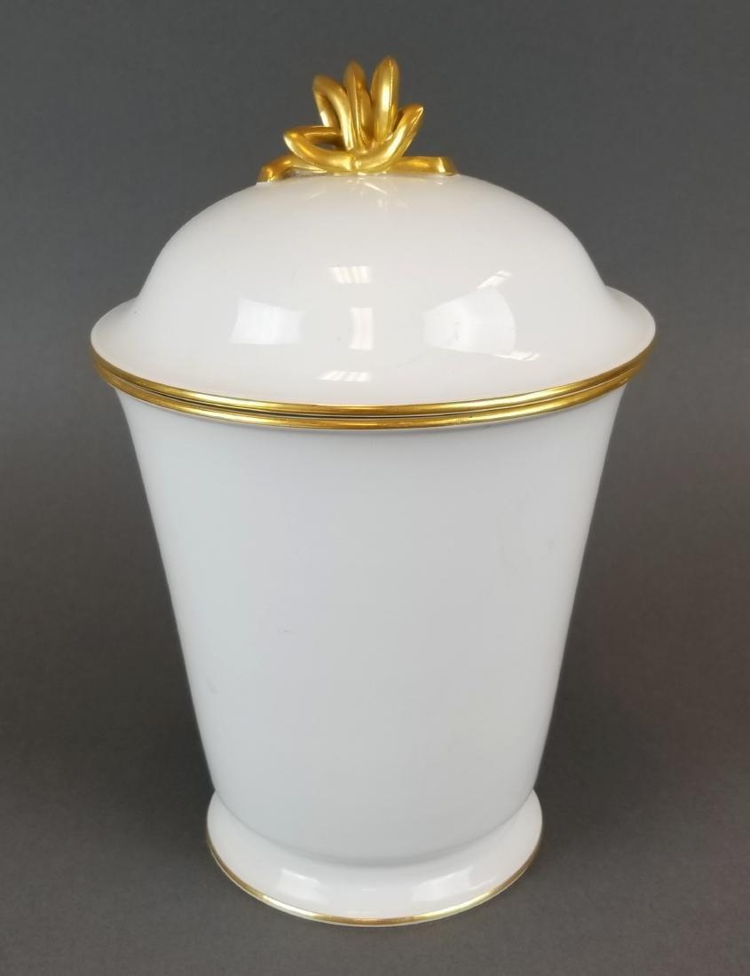 19th C. Meissen Vase w/ Lid
