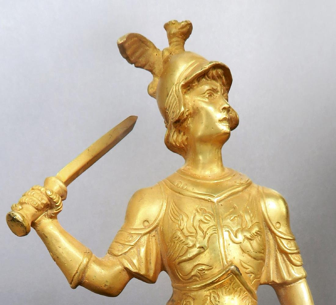 Pair Of Tiffany & Co  Gilded Bronze  Roman Soldiers - 6