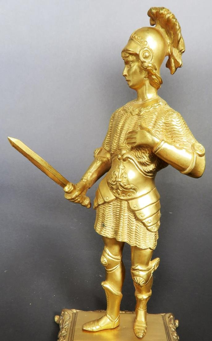 Pair Of Tiffany & Co  Gilded Bronze  Roman Soldiers - 8
