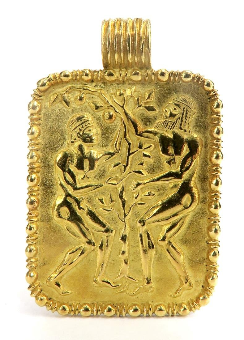"""18K  yellow Gold  Plaque  """"FRED""""  24 Grams"""