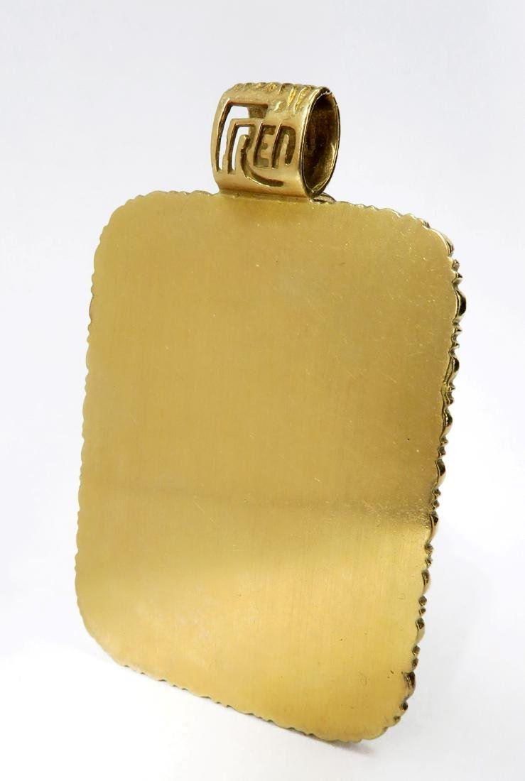 """18K  yellow Gold  Plaque  """"FRED""""  24 Grams - 2"""