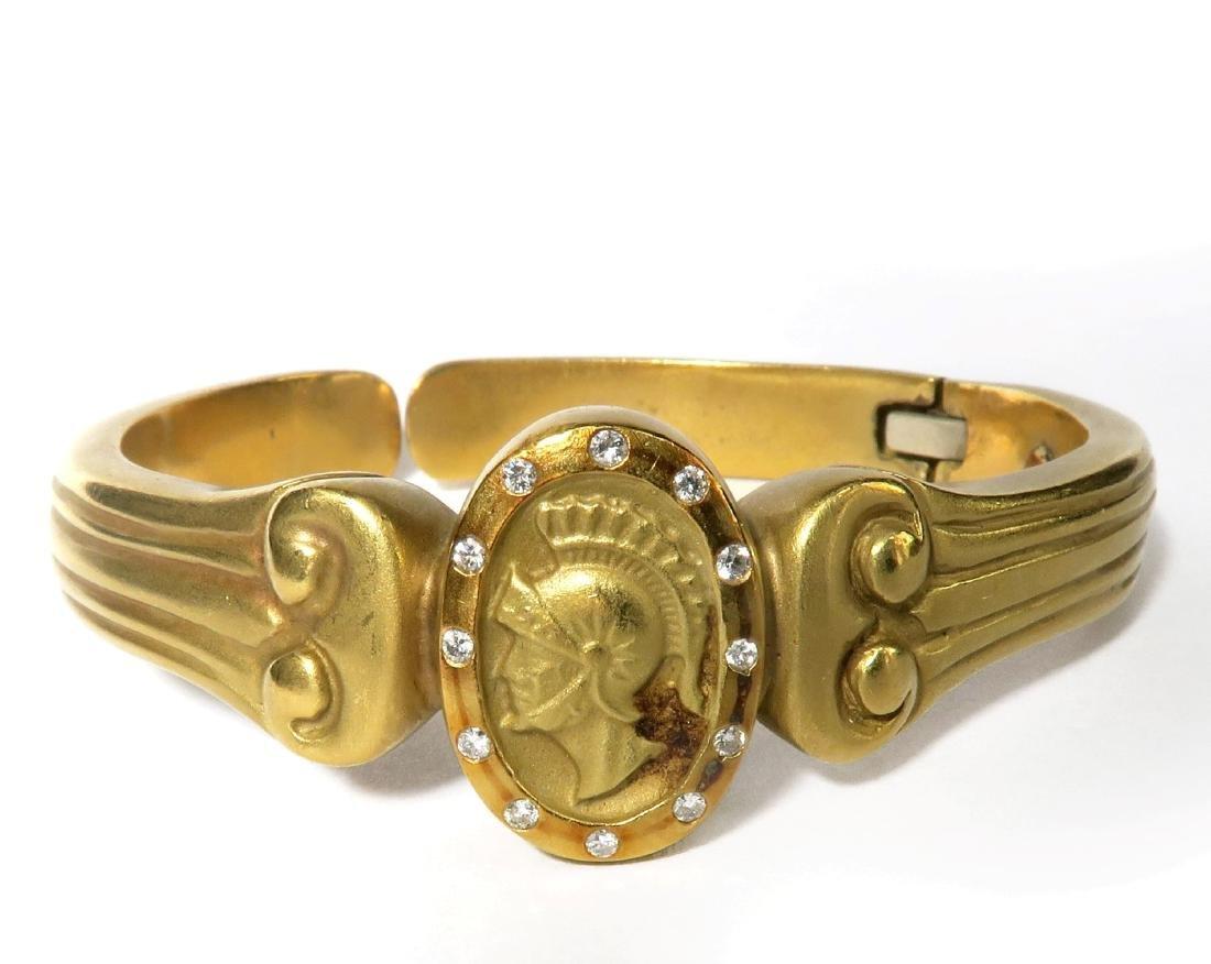 "18K  Yellow Gold Diamond  Bangle Bracelet  By ""VAHE"