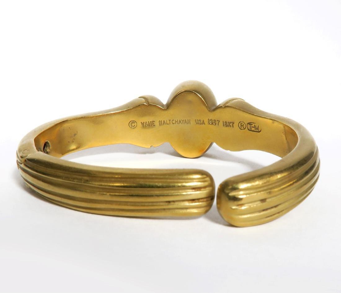 "18K  Yellow Gold Diamond  Bangle Bracelet  By ""VAHE - 4"