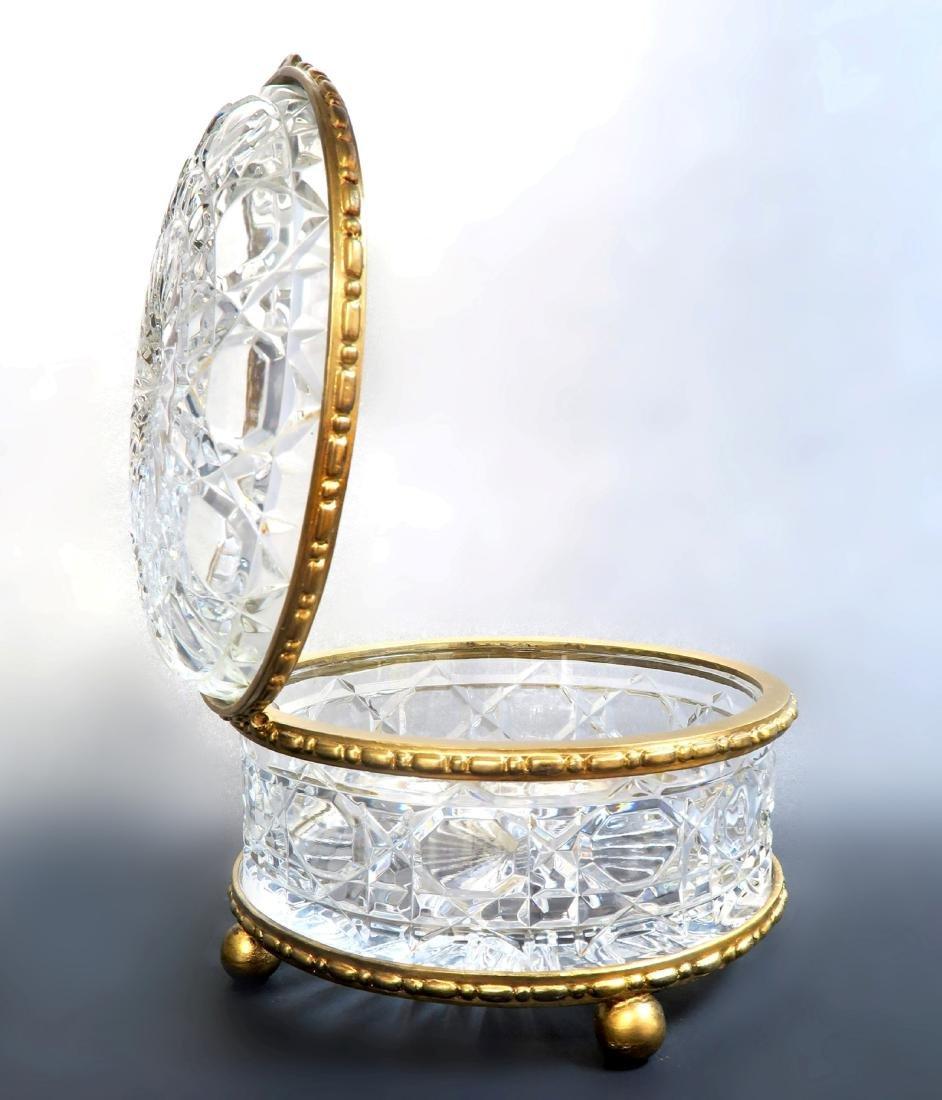 Large Bronze & Baccarat Crystal Box