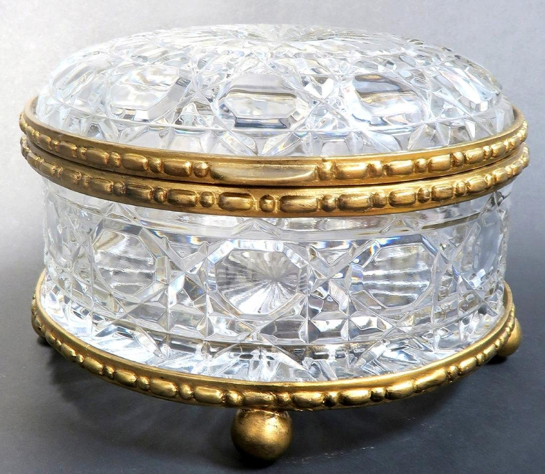 Large Bronze & Baccarat Crystal Box - 2