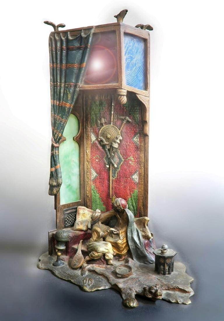 Anton Chotka Austrian Cold Painted Figural Orientalist - 2