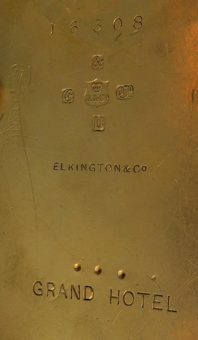 A Pair of Elkington Cut-Glass and Gilt Bronze Swan - 5
