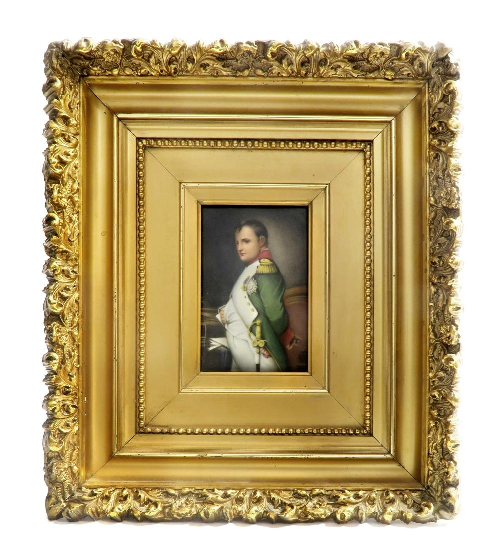 Hand Painted KPM Style Porcelain Plaque of Napoleon