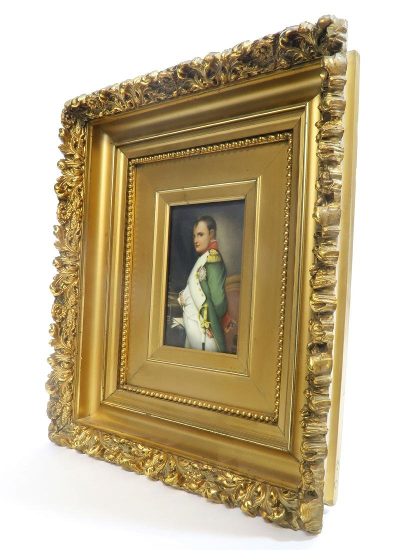 Hand Painted KPM Style Porcelain Plaque of Napoleon - 2
