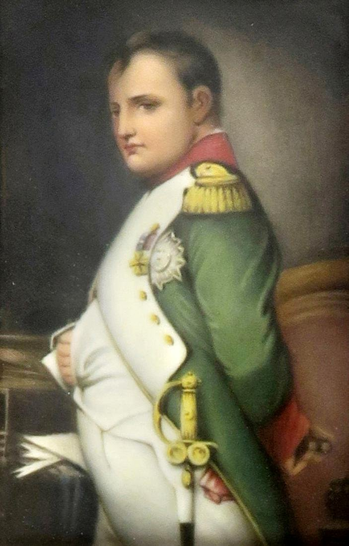 Hand Painted KPM Style Porcelain Plaque of Napoleon - 4
