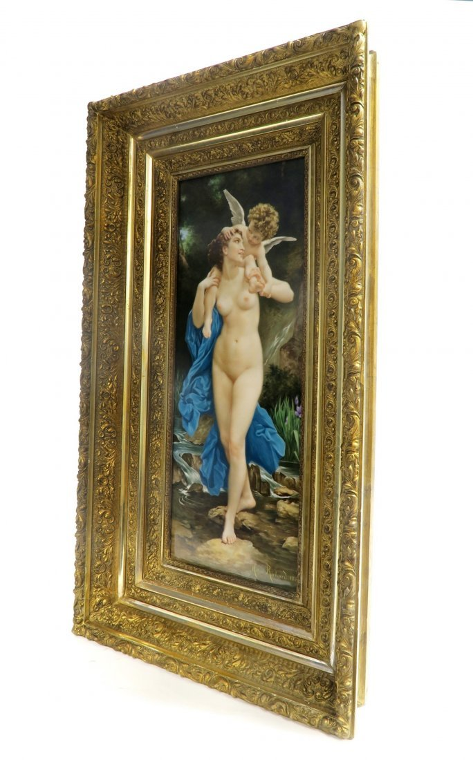 Monumental 19th C Nude Berlin KPM Plaque By MORTENSE - 3