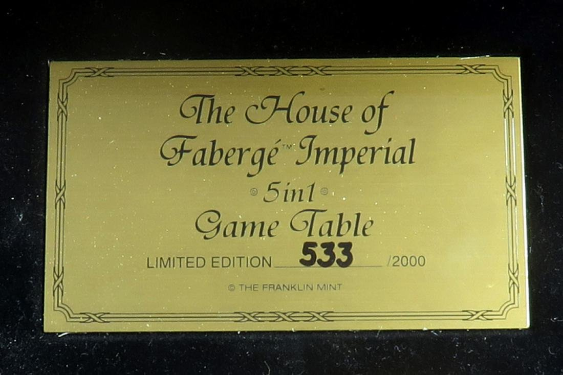 House of Faberge Imperial 5 in 1 Game Table Limited - 3