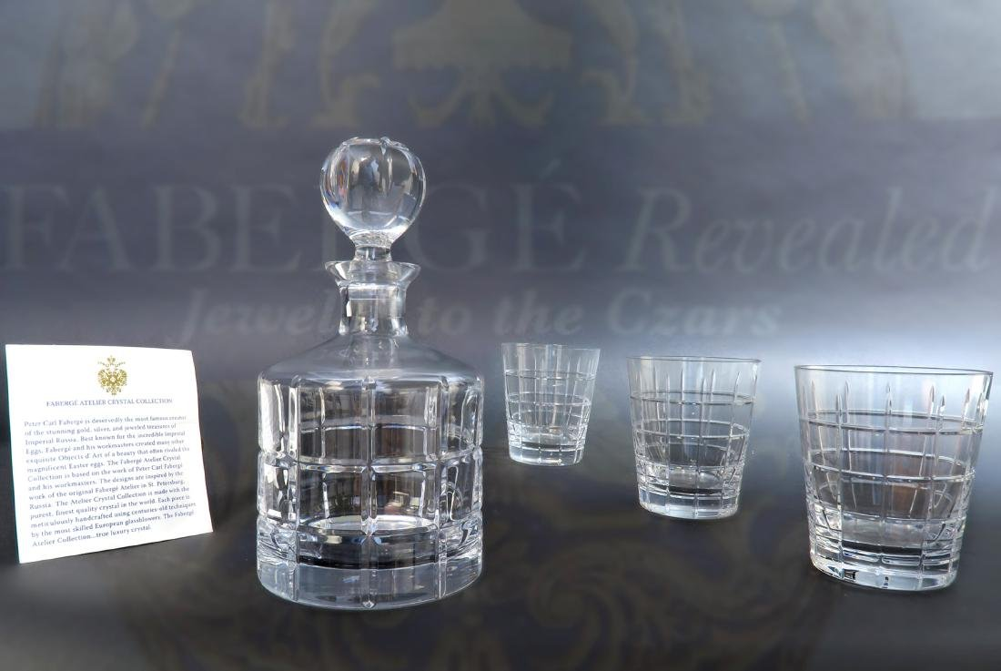Immaculate Faberge Metropolitan Decanter with 3 Crystal