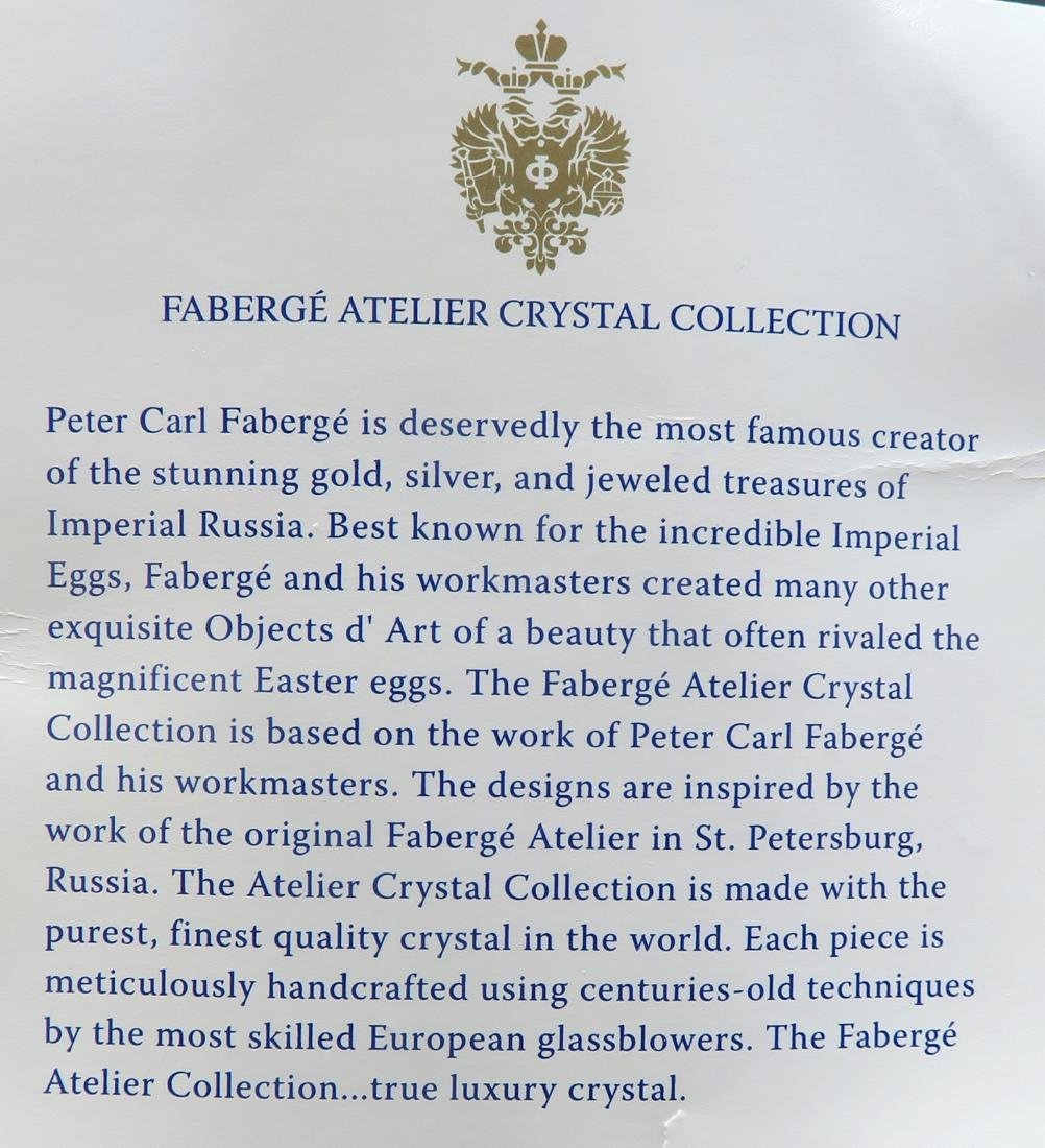 Immaculate Faberge Metropolitan Decanter with 3 Crystal - 6