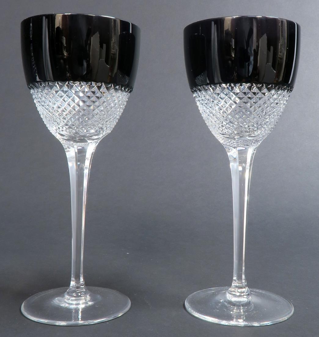 Signed Faberge Crystal Decanter & 2 Glasses - 2