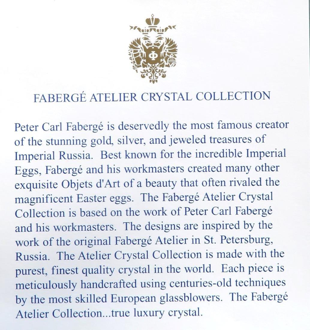 Signed Faberge Crystal Decanter & 2 Glasses - 5