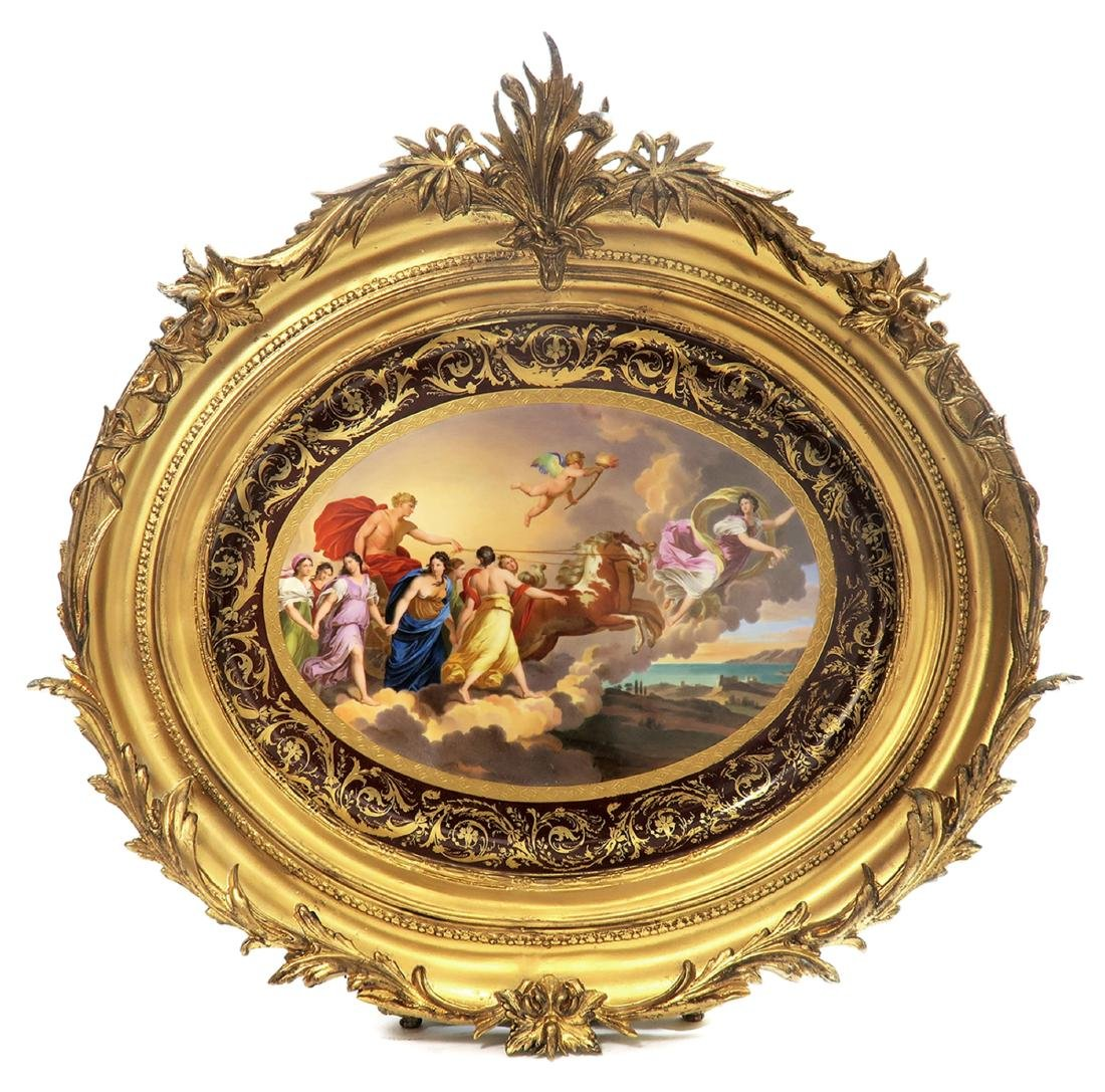 19th C. Royal Vienna Handpainted Framed Charger