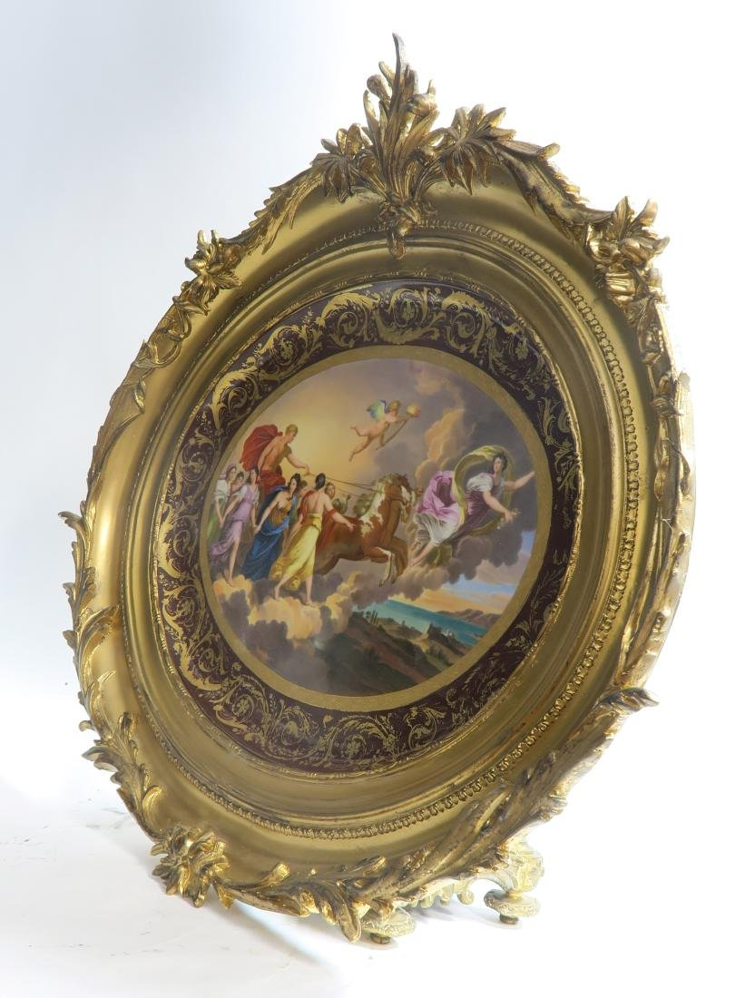 19th C. Royal Vienna Handpainted Framed Charger - 3