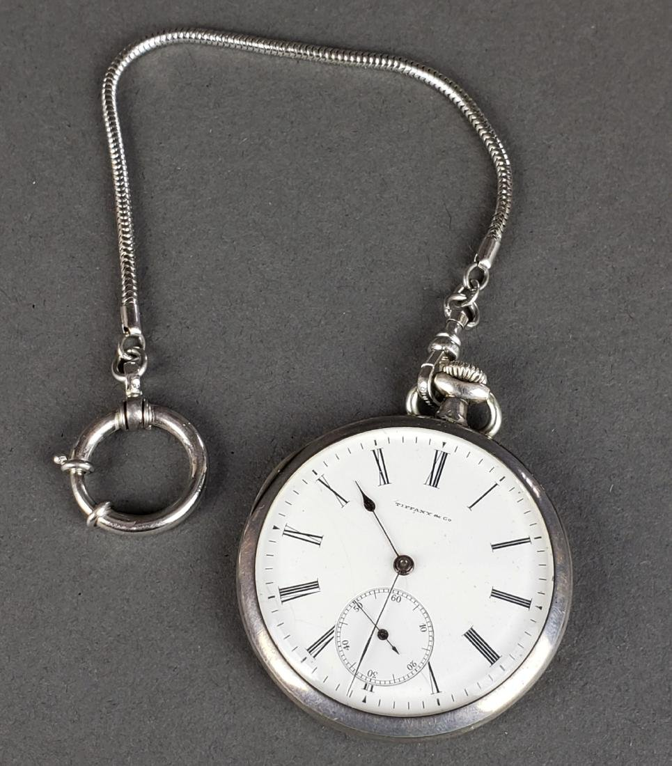 Tiffany and Co. 925 Sterling Silver Pocket Watch - 2