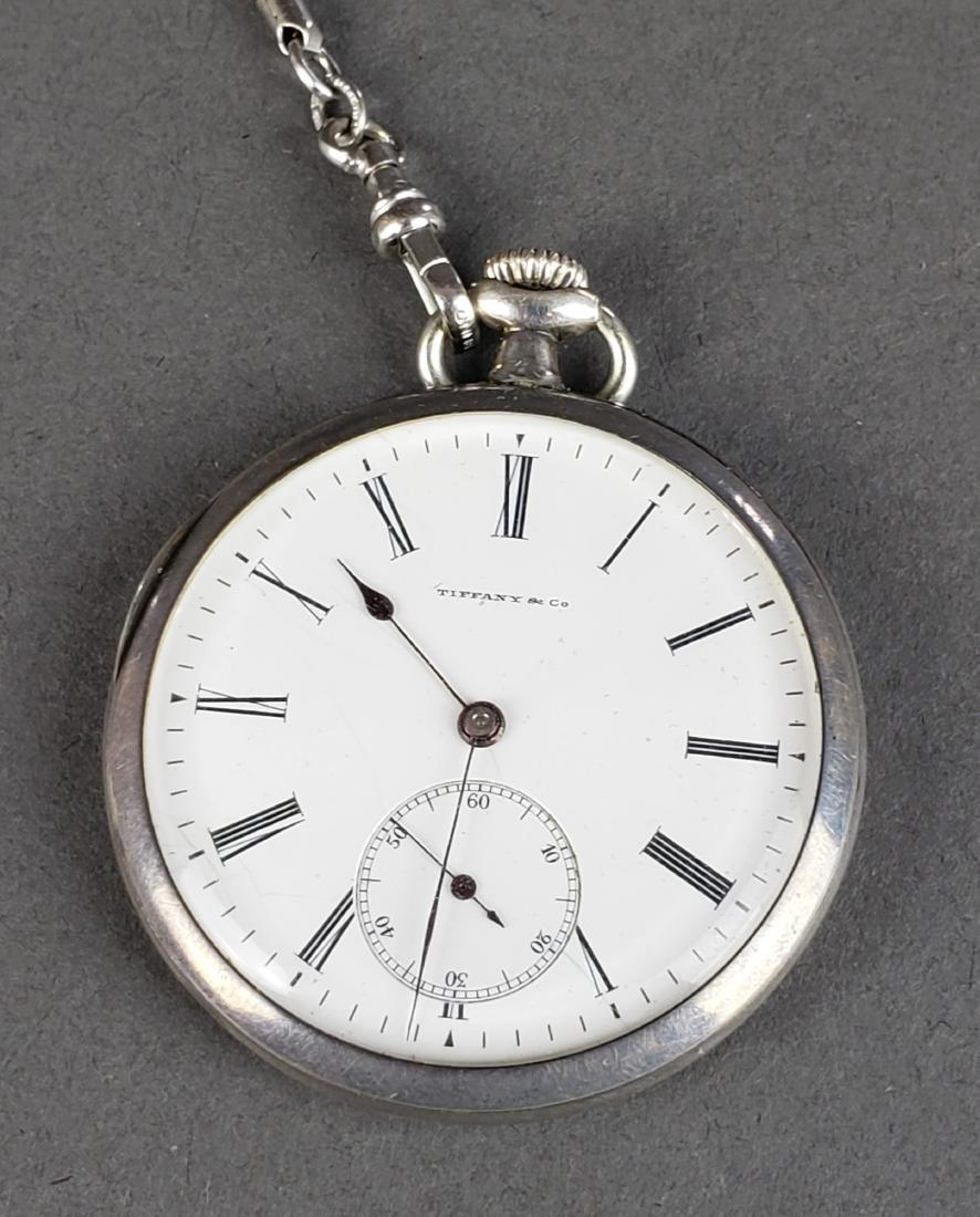 Tiffany and Co. 925 Sterling Silver Pocket Watch - 4