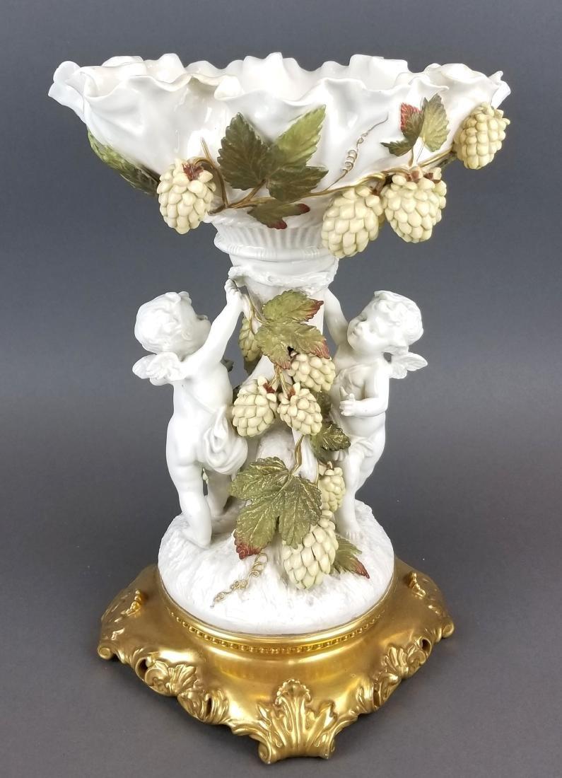 19th C. Figural Minton Centerpiece