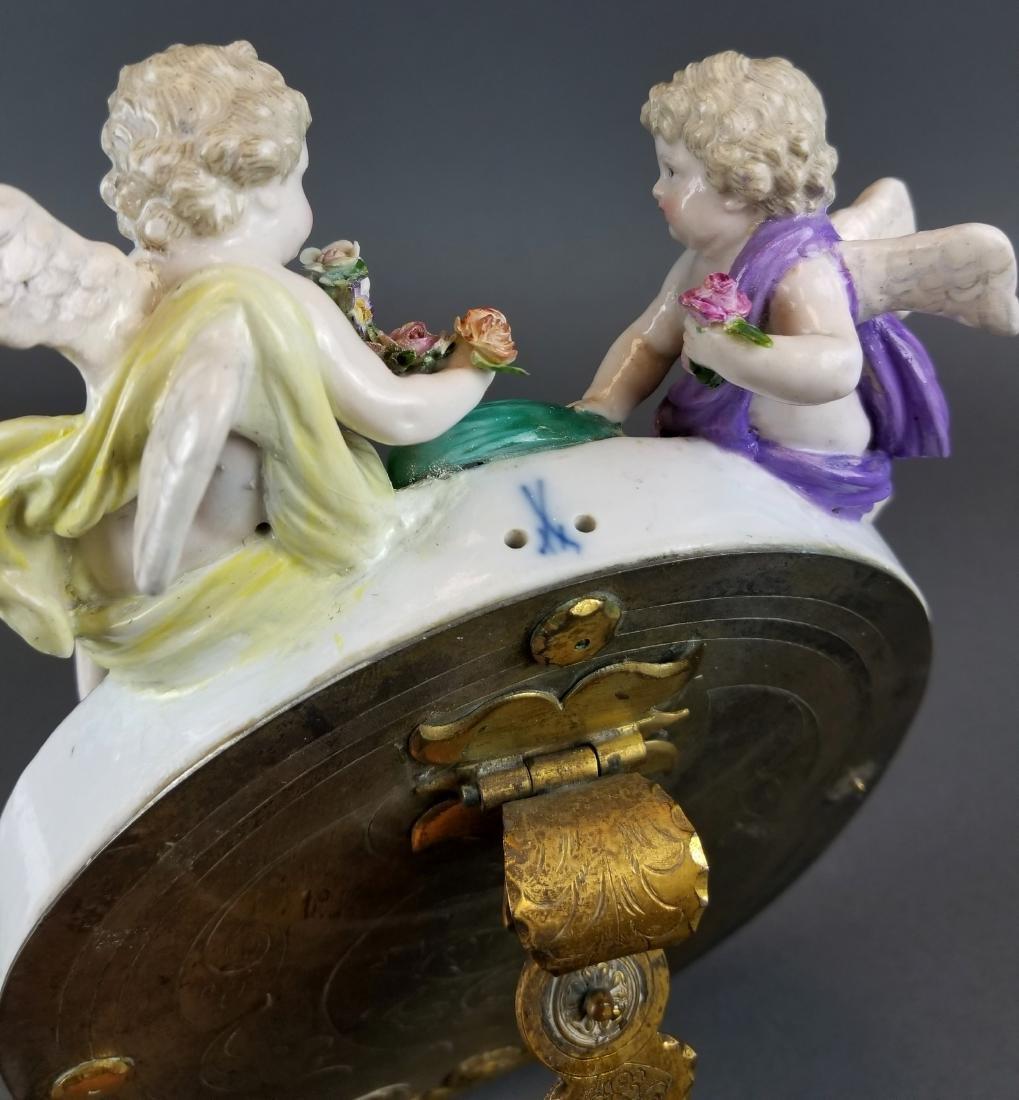 19th C. Meissen Figural Porcelain Mirror - 5