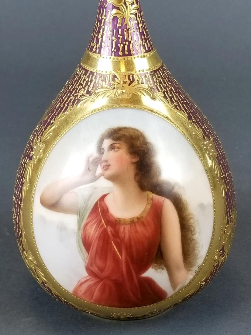 19th C. Royal Vienna Hand painted Vase - 2