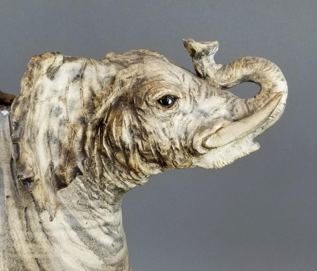 Large Carved Elephant Figural Jug - 4