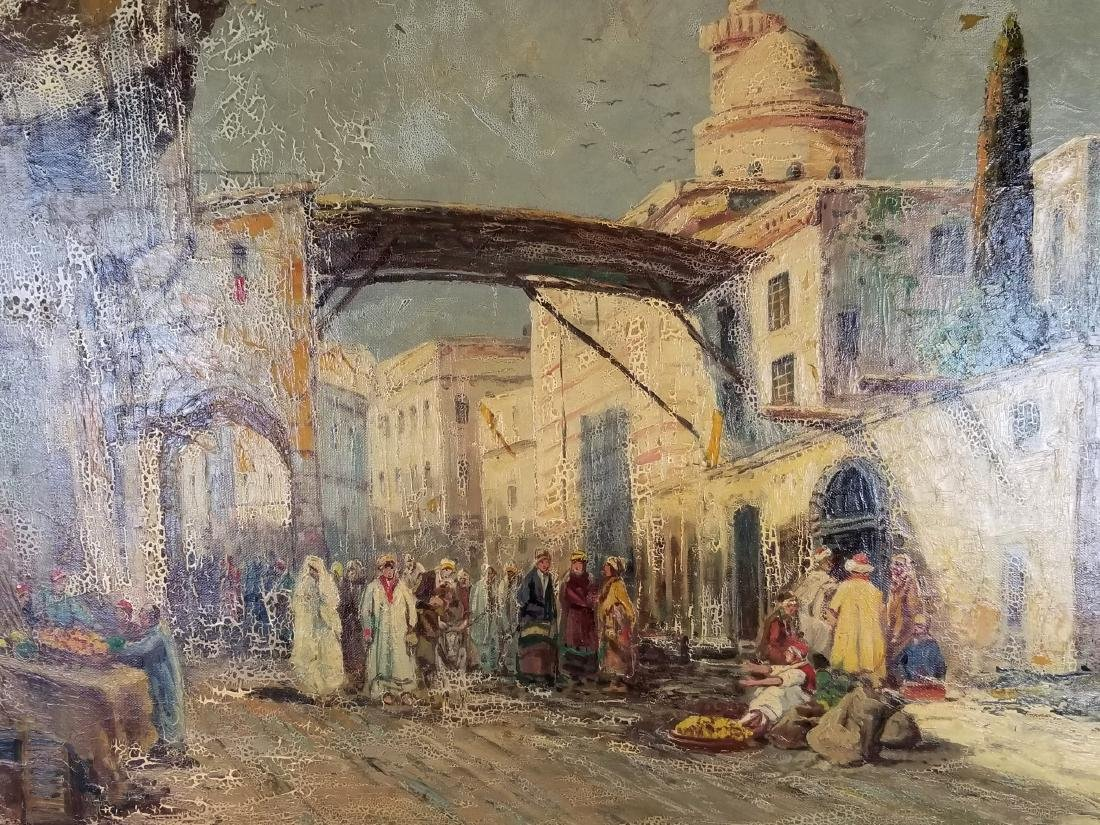 I.R. Abel Signed Large Oreientalist Oil on Canvas - 2
