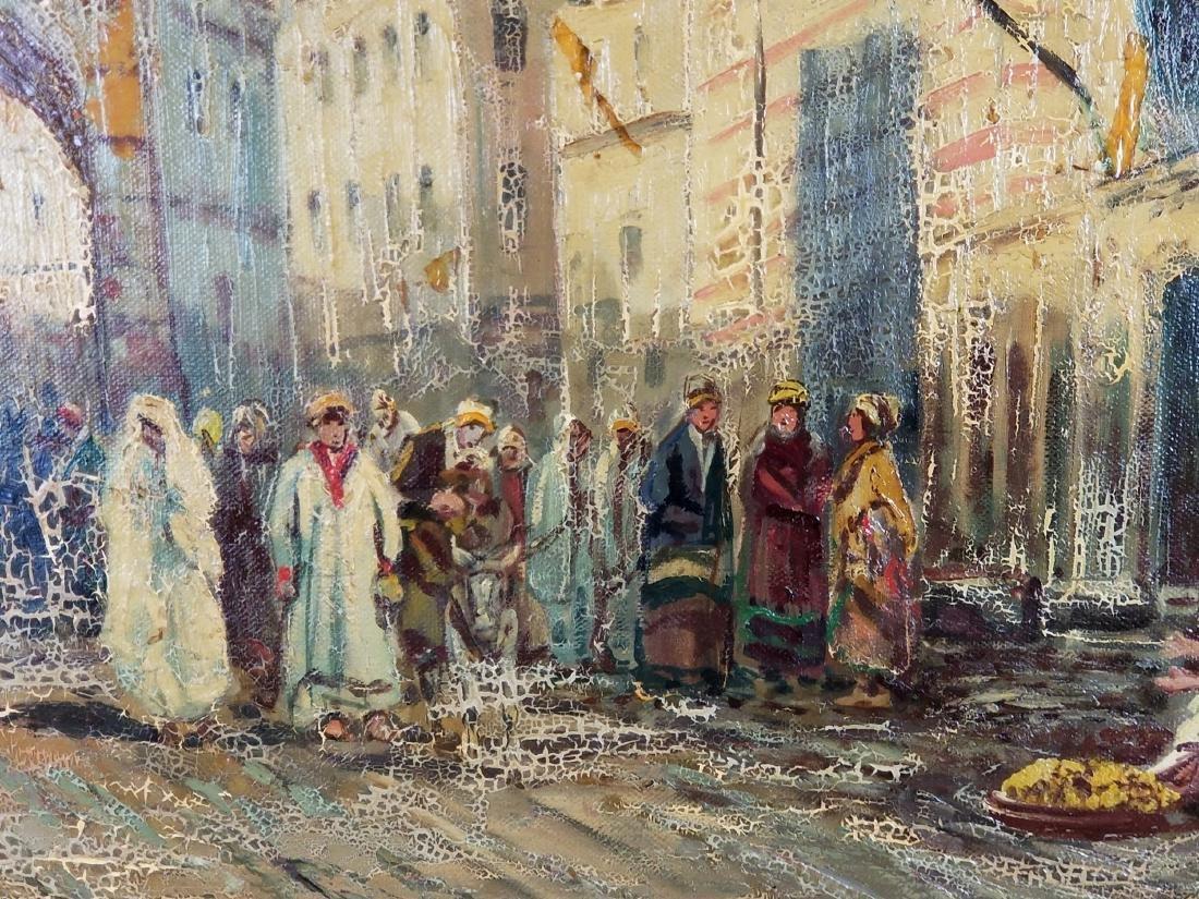 I.R. Abel Signed Large Oreientalist Oil on Canvas - 3