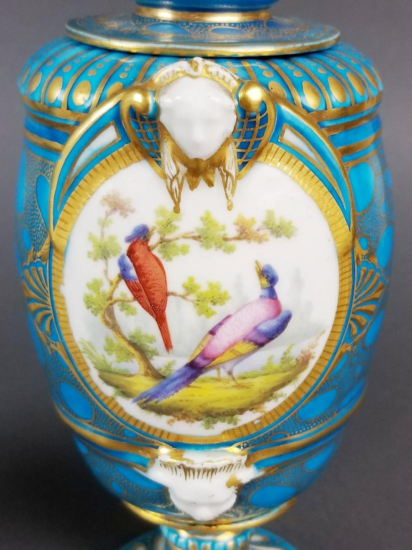 Pair of 19th C. French Sevres Porcelain & Bronze Urns - 9