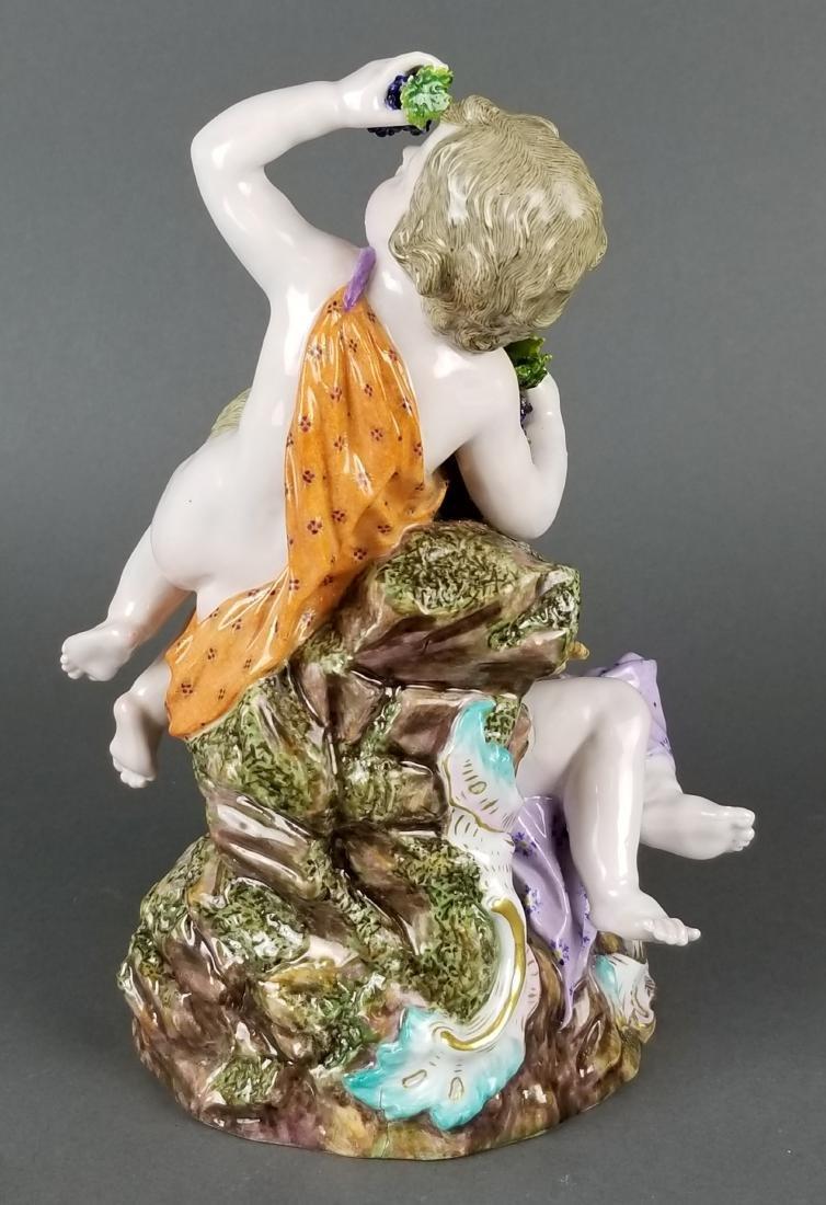 19th C. Large Meissen Porcelain Group - 5