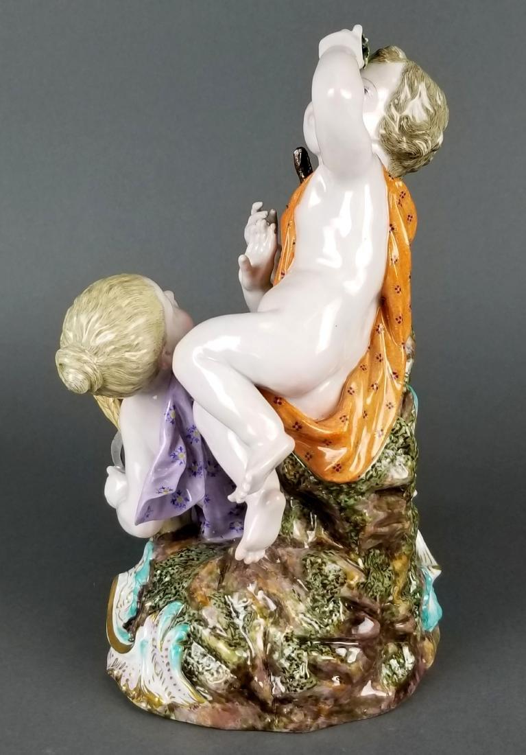 19th C. Large Meissen Porcelain Group - 6