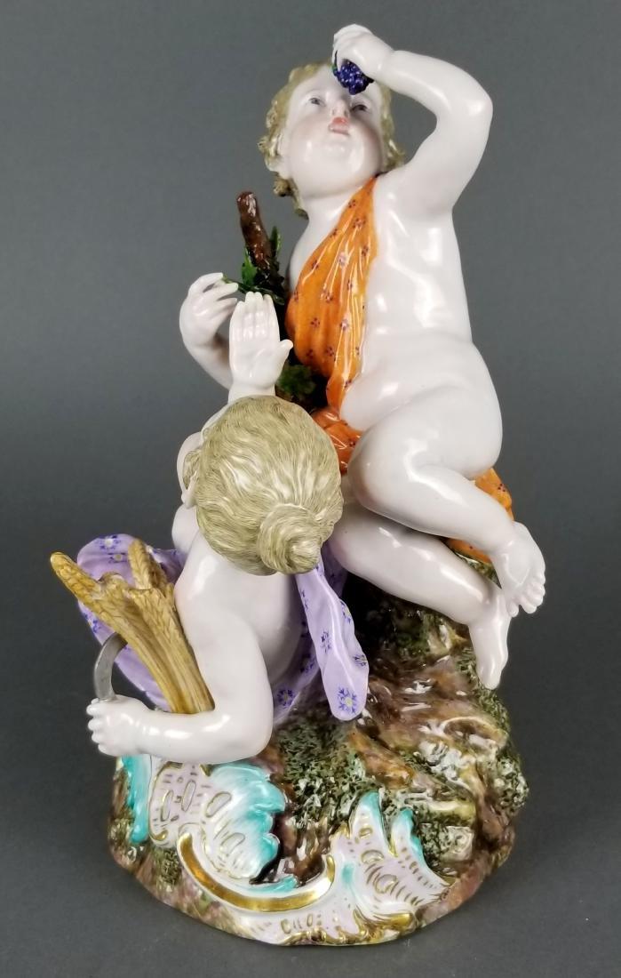 19th C. Large Meissen Porcelain Group - 7
