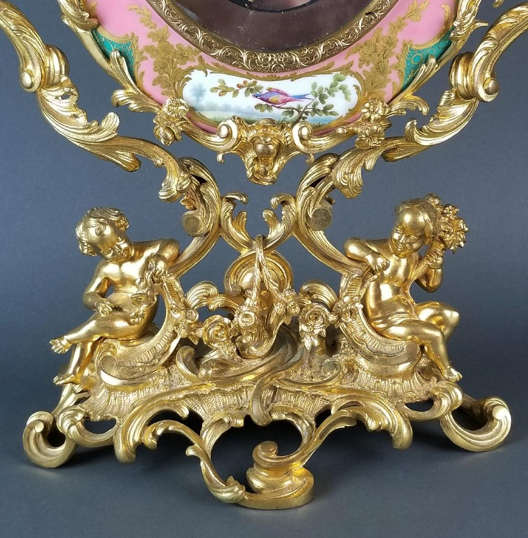 19th C. Sevres Large Bronze Mounted Figural Vanity - 5