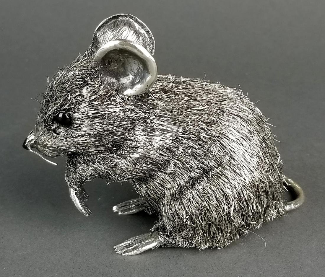 Large Buccellati Signed Silver Handmade Figure of Mouse - 2