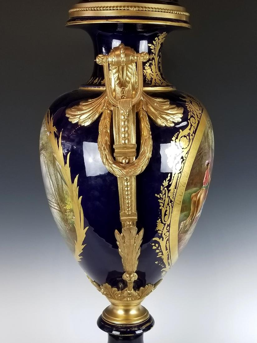 Late 19th C. Large French Sevres Gilt Bronze and - 6
