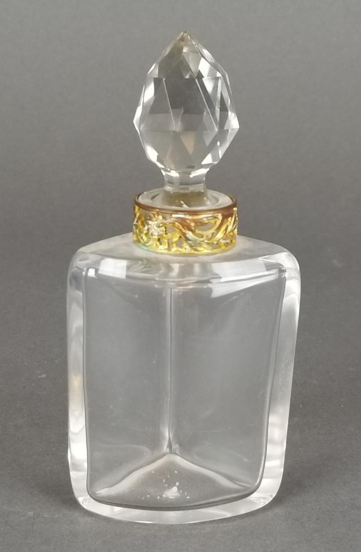 19th C. Bronze & Baccarat Perfume Bottles - 5