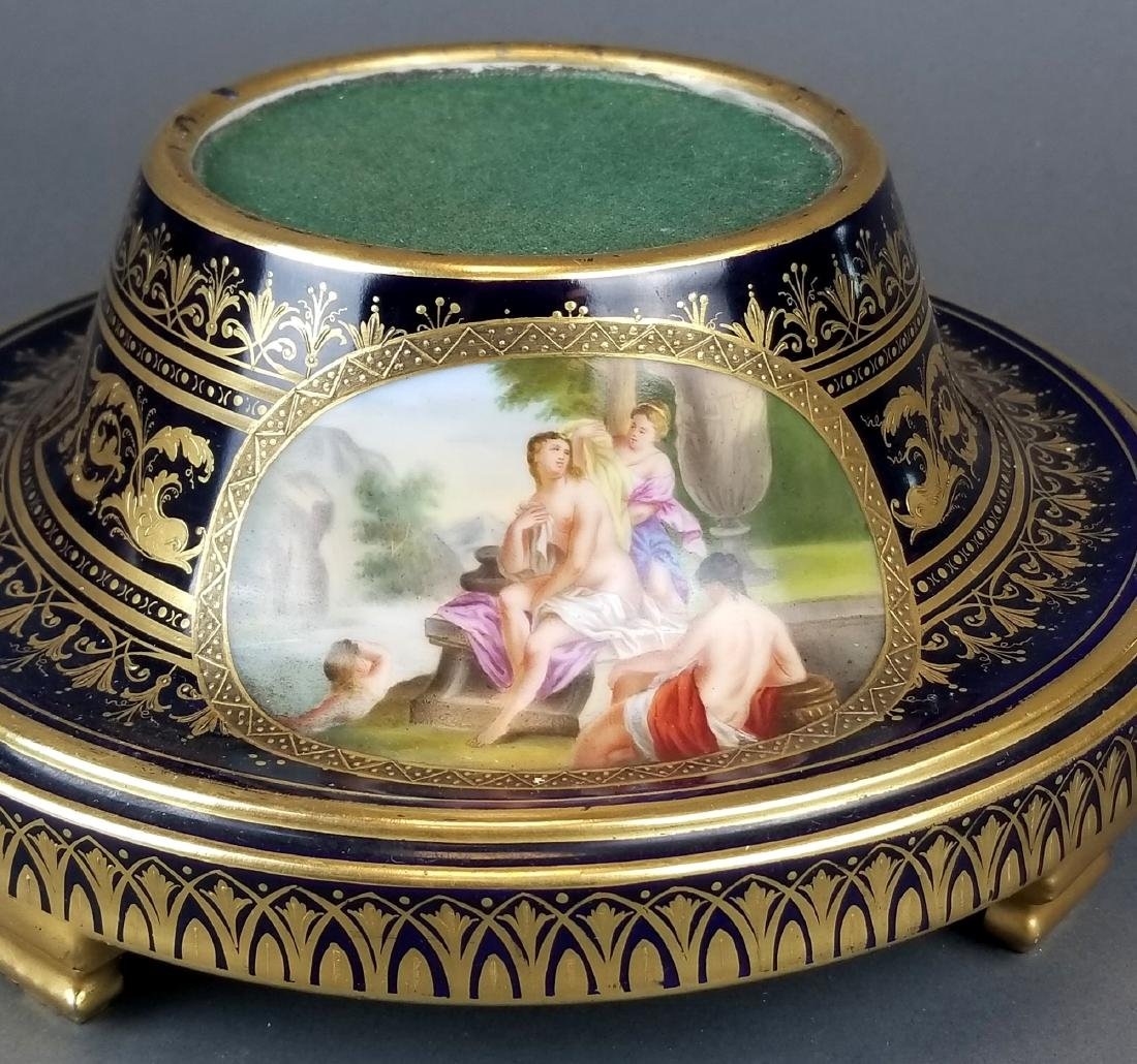 19th C. French Royal Vienna Handpainted Vase on Base - 9