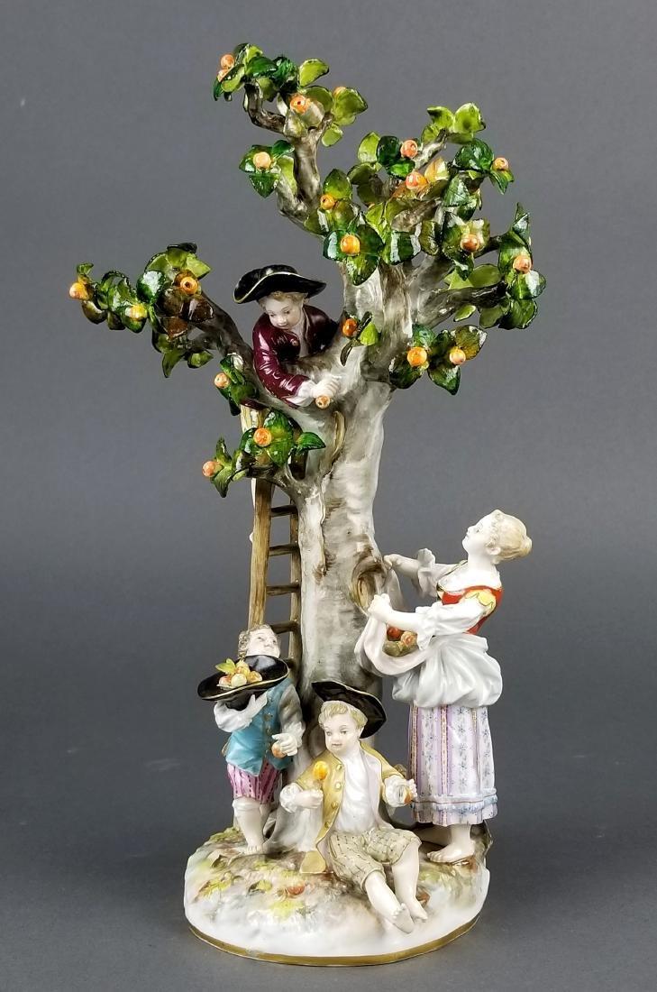19th C. Meissen Porcelain Figural Group picking Oranges