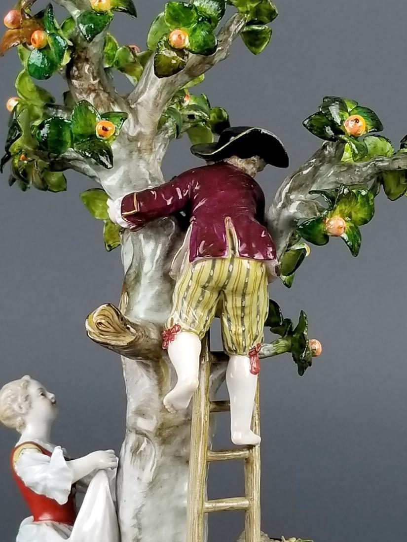 19th C. Meissen Porcelain Figural Group picking Oranges - 9