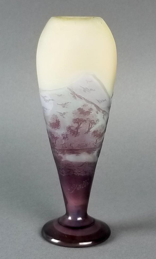 Galle Cameo Landscape Vase Circa 1910