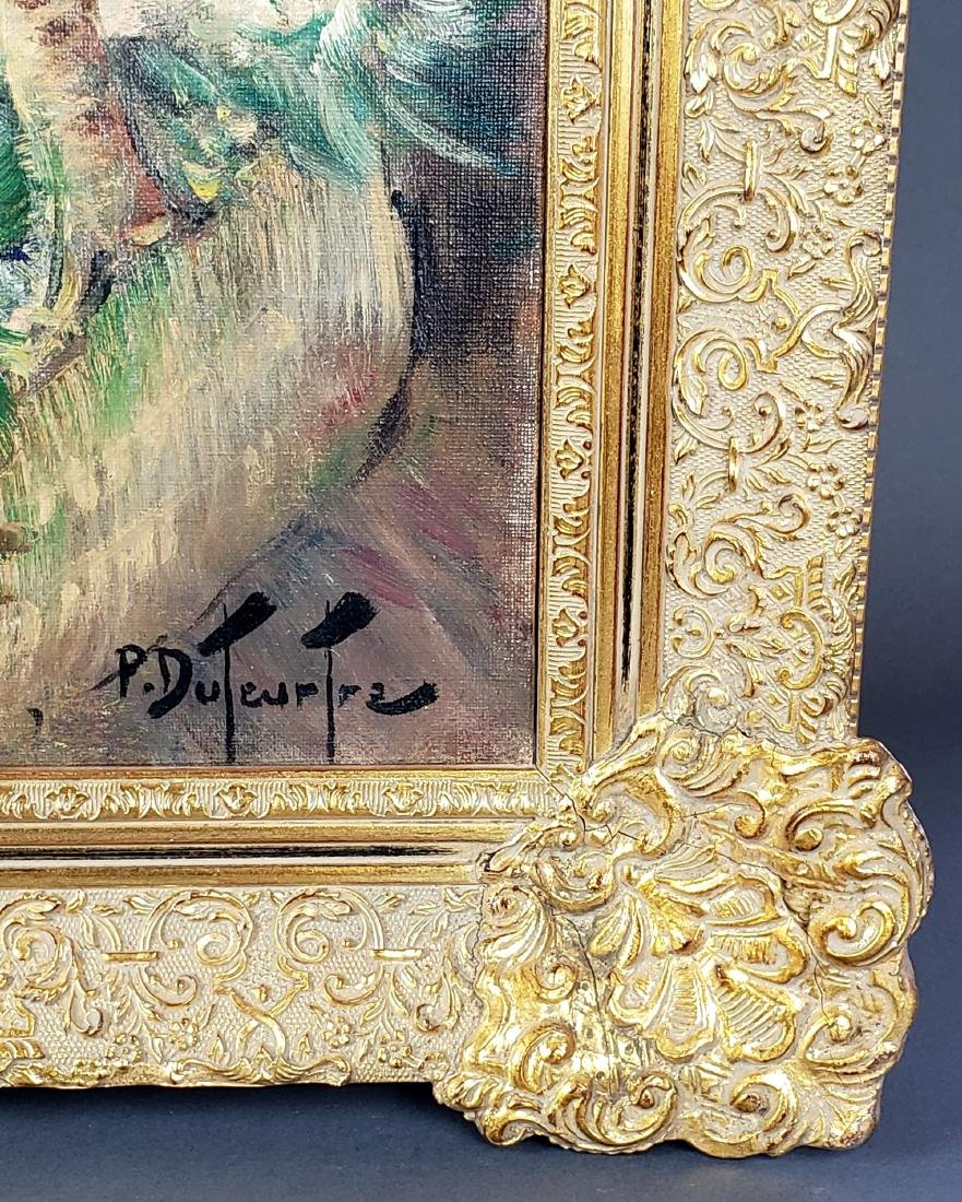 Exquisite Painting of Woman w/ Flowers Signed P. - 4