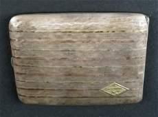 14K Gold on Sterling Silver Cigarette Case