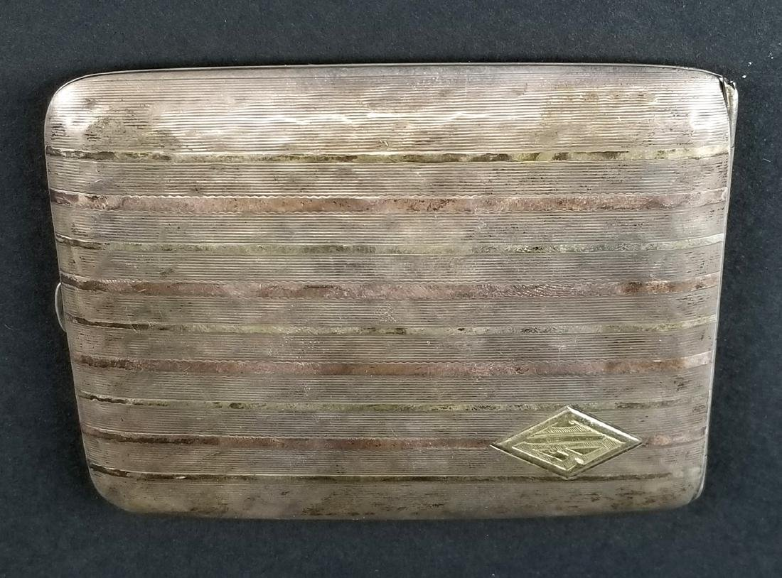 14K Gold on Sterling Silver Cigarette Case