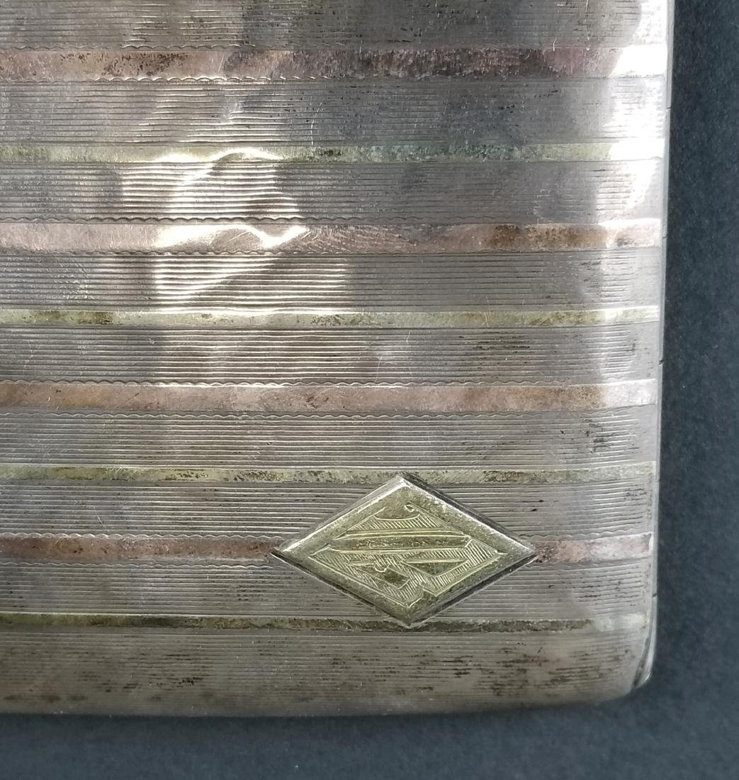 14K Gold on Sterling Silver Cigarette Case - 2