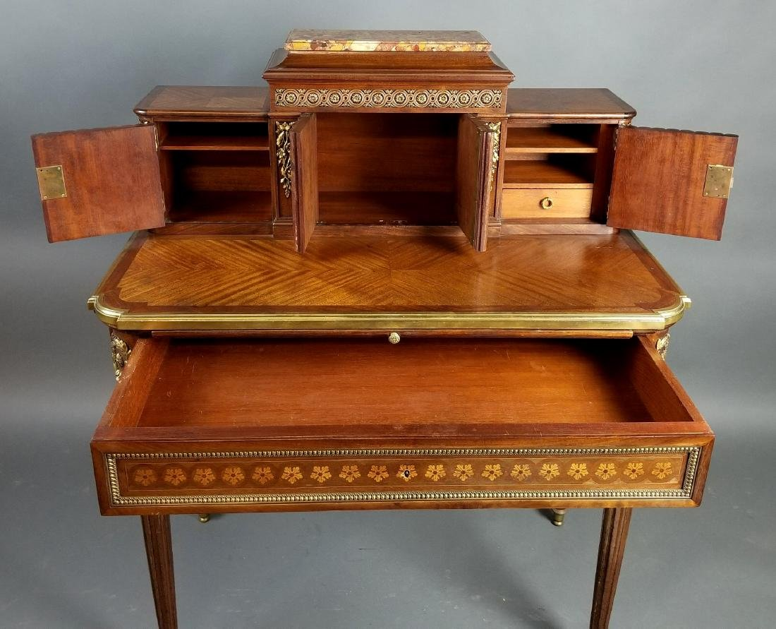 19th C. French Louis XVI Style Writing Desk - 8