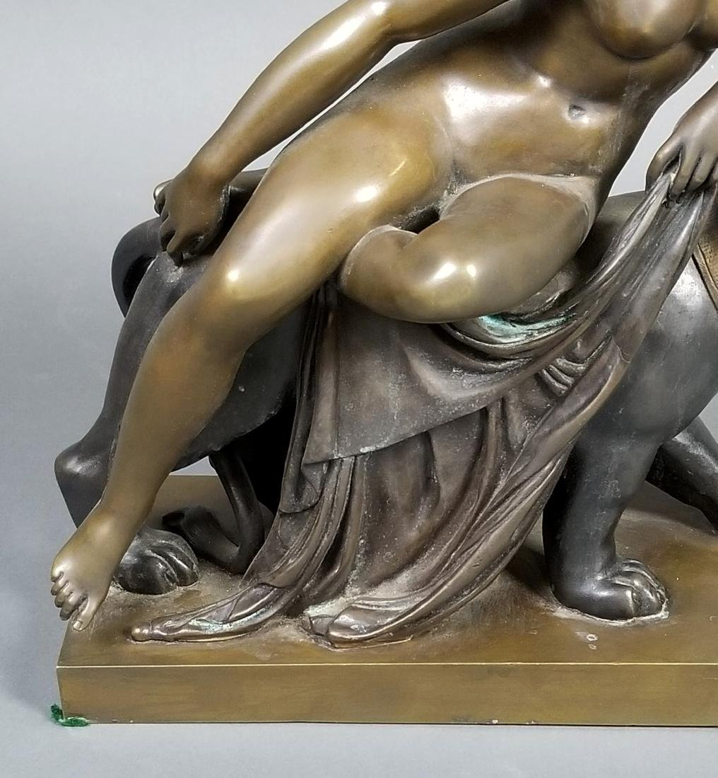 Art Deco Bronze Group of Woman and Puma, C. 1920's - 3