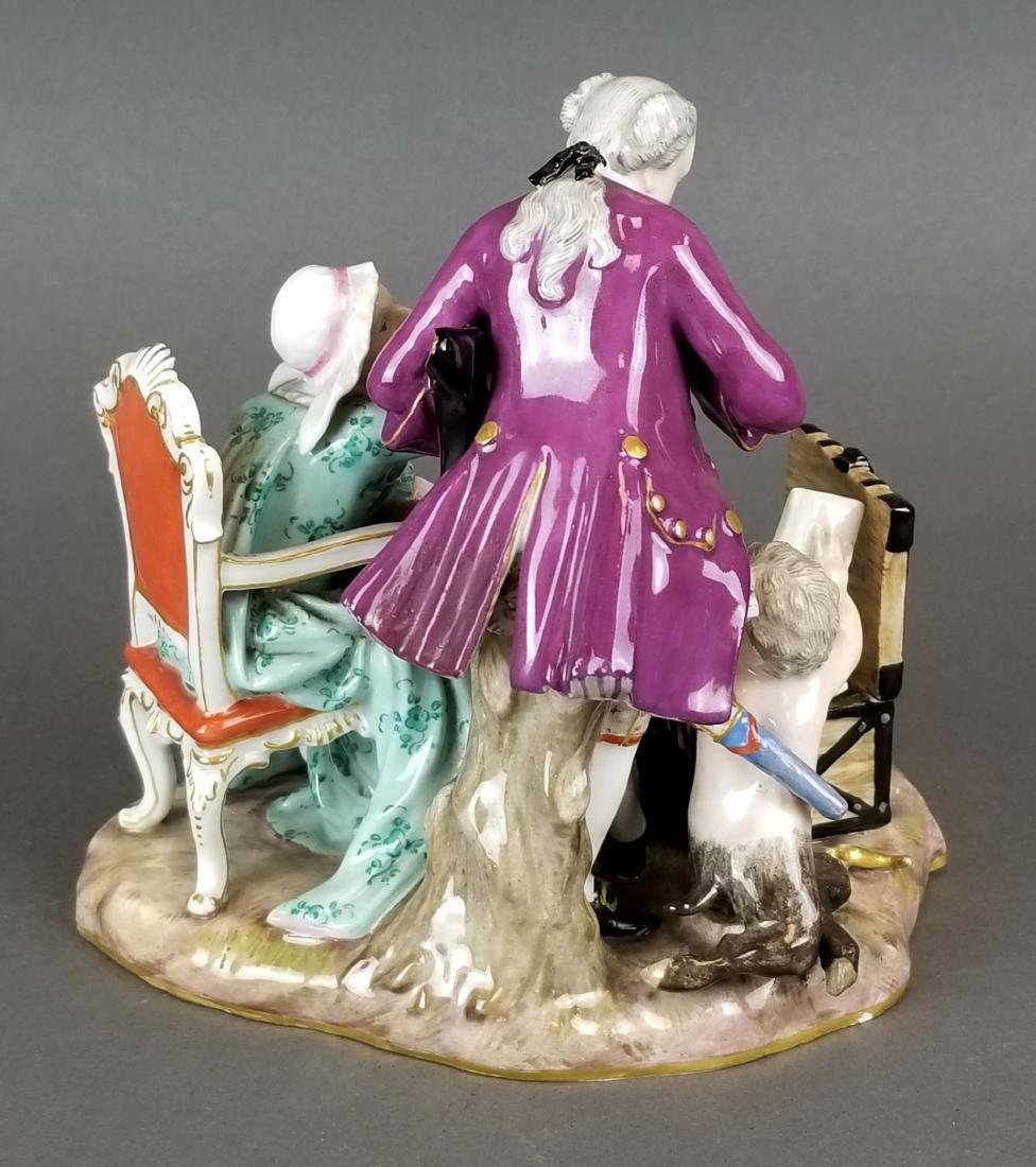19th C. Meissen Porcelain Group of Elderly Couple - 4